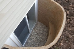 Tan Rockwell Window Well - Process of Installing an Egress Window in a Basement in De Pere, WI