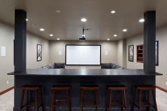 Basement Home Theater Finishing / Remodeling Living Room in Green Bay, WI