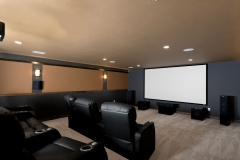 Basement Finishing and Remodeling Sound Proof Home Theater Projector in Green Bay, WI