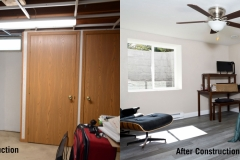 Before and After Basement Finishing and Egress Window Installation in Green Bay, WI