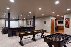 Basement Home Bar Finishing / Remodeling Construction Project in Green Bay, WI