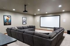Basement Home Theater Finishing / Remodeling Living Room in Appleton, WI