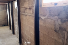Wall Beams After  Basement Foundation Repair in Green Bay, WI