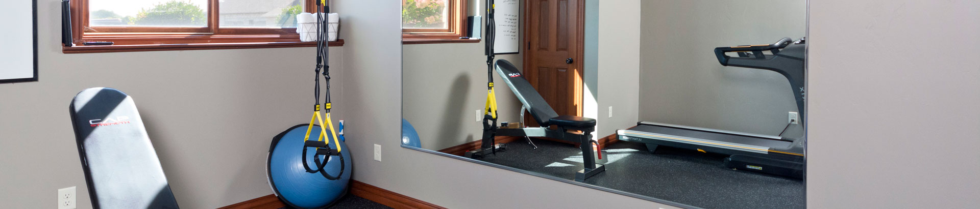 Exercise Room Basement Finishing and Remodeling in Green Bay, WI