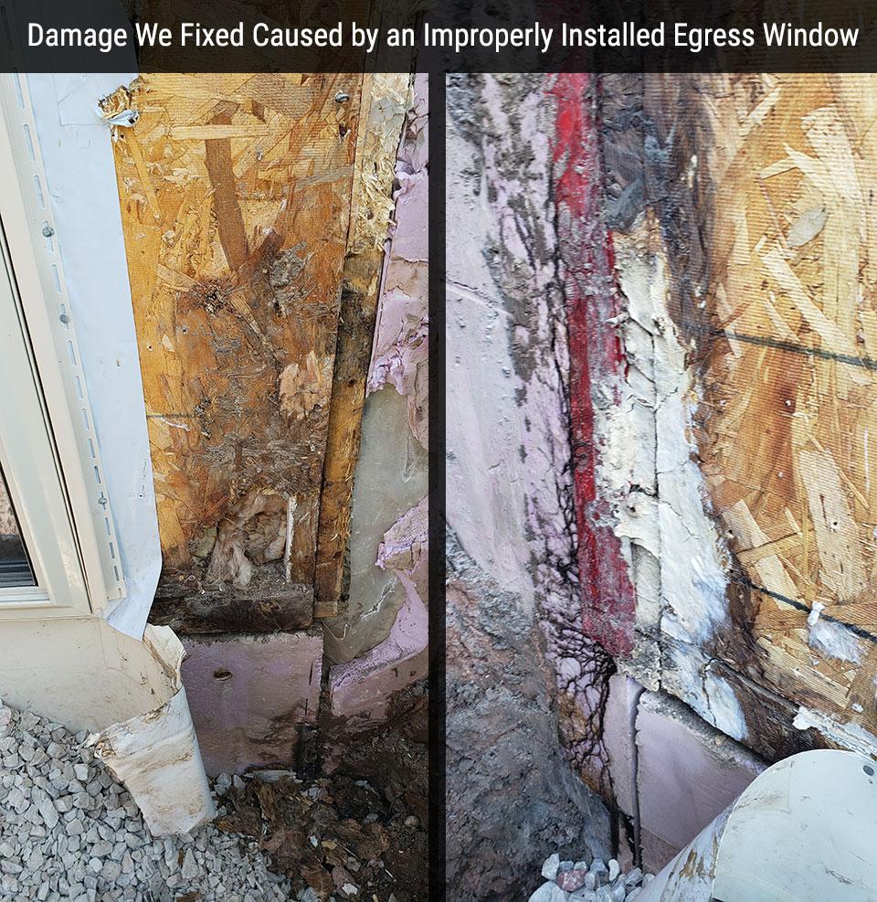 Basement Egress Window Installation & Concrete Cutting In
